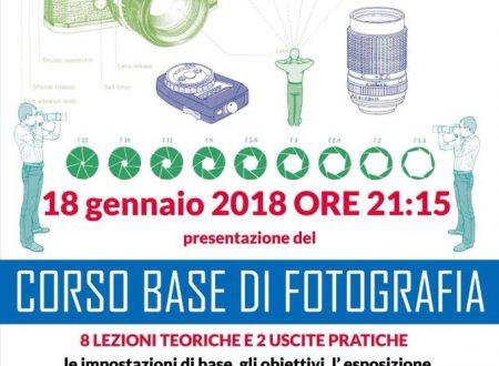 CORSO BASE DI FOTOGRAFIA- PRESENTAZIONE 18 GENNAIO 2018