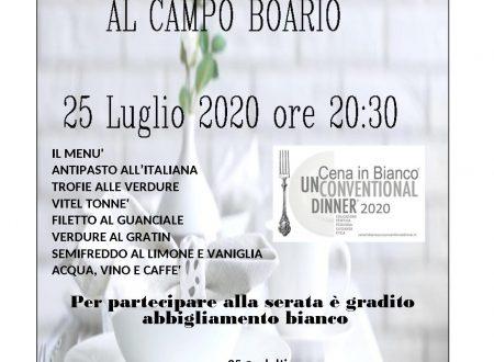 CENA IN BIANCO 25 LUGLIO 2020